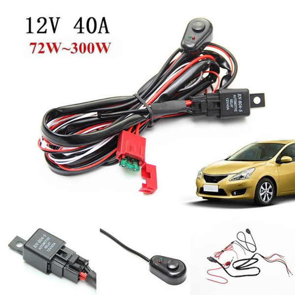 2m auto car cable wiring harness kit with 40a 12v on/off switch relay blade
