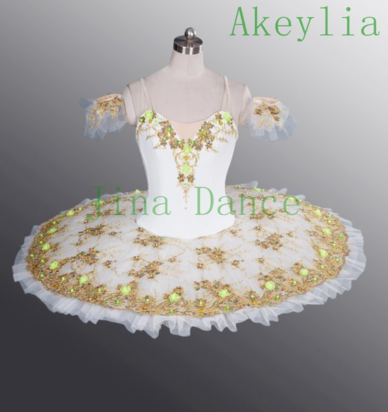White Fairy Flowers Classical ballet Tutu pink ballerina tutu girls Adult sleeping beauty white professional ballet tutus for women