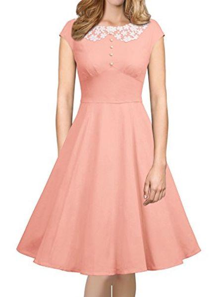 iLover Womens Classy Vintage Audrey Hepburn Estilo 1940's Rockabilly vestido de noite