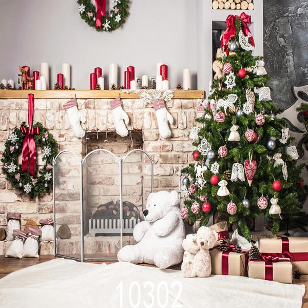 Vinyl Benutzerdefinierte Fotografie Kulissen Prop digital gedruckt Vertikale Weihnachtstag Thema Foto Studio Hintergrund JLT-1030