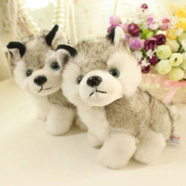 Juguete de peluche Juguete blando Cuddly Husky Puppy Dog 18cm Peluche Animal Teddy 18cm 7