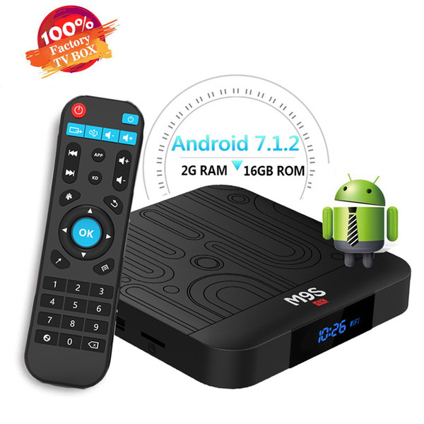 2019 Best Android Tv Box Amlogic s905w M9S W1 2GB 16GB WiFi Lan 4K Free Movies streaming Cutsom Logo television Media Box Better H96 MAX T9