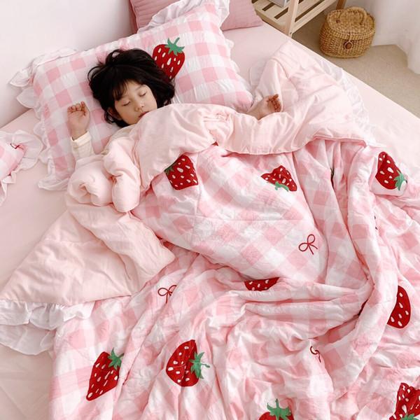 baby blankets receiving blankets Soft Cotton Baby Kids Summer Quilt