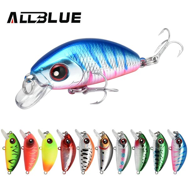 ALLBLUE BEAN 33S Heavy Weight Minnow Mini Sinking Wobbler 5.3g 33mm Fishing Lure Artificial All Range Hard Bait Fishing Tackle Y18101002
