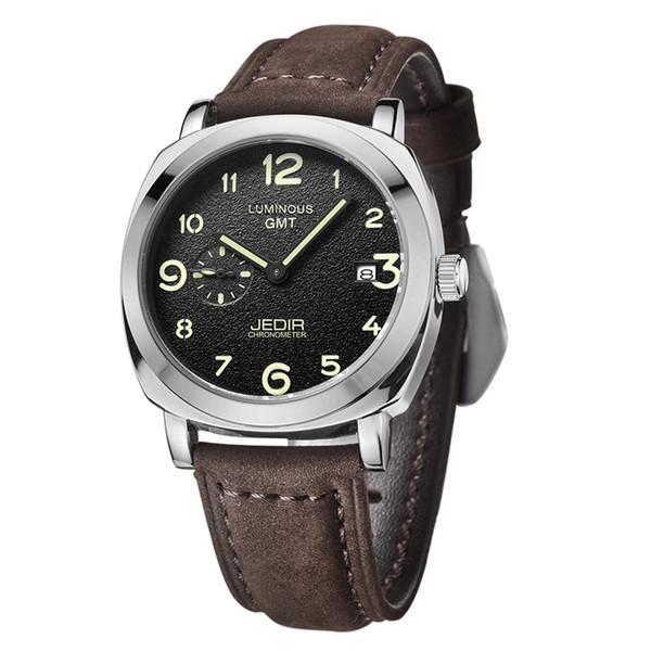 Мужчины Часы Хедир Марка Кожаный ремешок кварцевые наручные часы светящиеся стрелки Дисплей Календарь Мужской Часы Relogio Mascilino Casual Часы