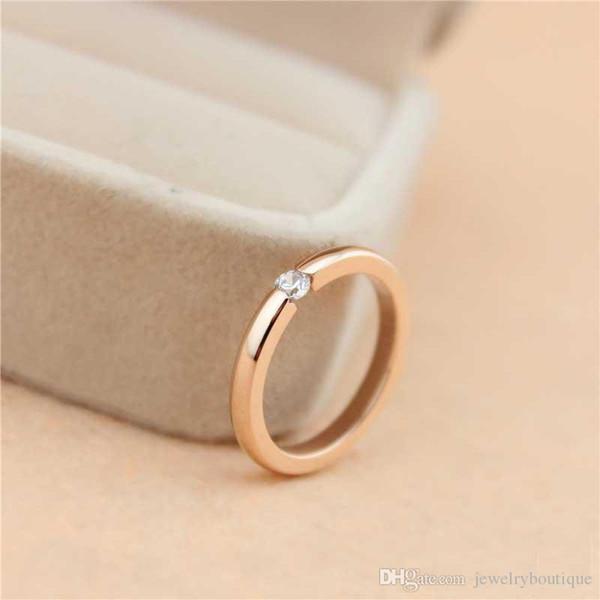 Förderungs-Liebhaber schellt Edelstahl des Rosen-Gold-316L 18K mit Diamanten für Frauen und Mann Ringe in den 0.2cm Breiten-Schmucksachen, die frei PS5454 versenden
