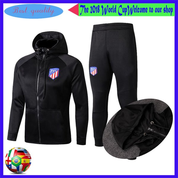 2019 17 18 AAA+ Atletico Survetement GRIEZMANN Jacket Training Suit  CARRASCO Tracksuits Tight Pants KOKE Training Clothes Sportswear GABI  Jacket From