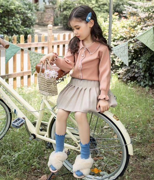 2019 Enfants Designer Vêtements Bébé Filles De Luxe Rose Robes Costume enfants Robe lol Belle vêtements robe ensemble Ropa De Diseñador
