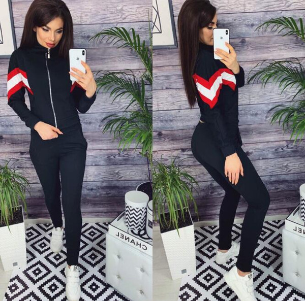 2019 Fashion Women Tracksuits Casual Short Sleeve Tops Two-piece Jogger Set Ladies Spring Tracksuit Sweat Suits 5 Colors Plus Size S-3XL