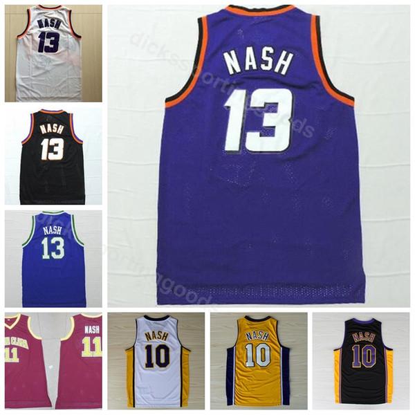 premium selection 1b20f 6d6f2 2019 College Men 13 Steve Nash Jersey 10 Santa Clara Broncos College 11  Steve Nash Basketball Jerseys Purple Black White Yellow Red From ...
