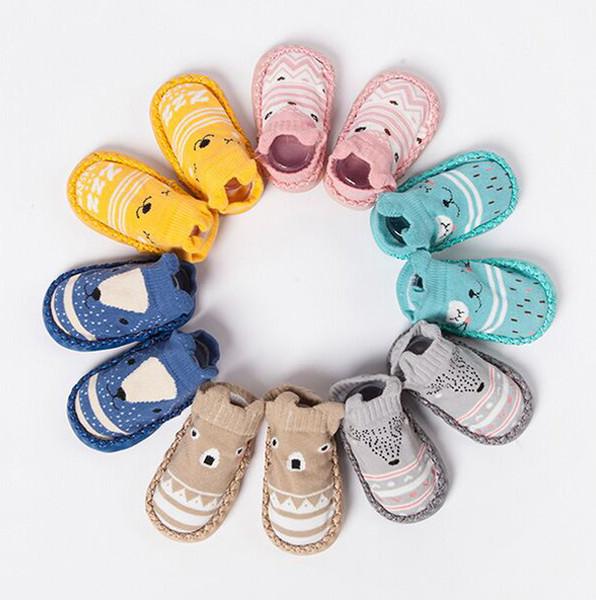 Anti Slip Babyboden Socken Mit Gummisohlen Neugeborenes Säuglingssocke Herbst Winter Weiche Sohle
