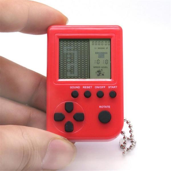 Тетрис игровой консоли игрушка мини брелок кулон мини и прекрасный брелок лучший подарок для детей
