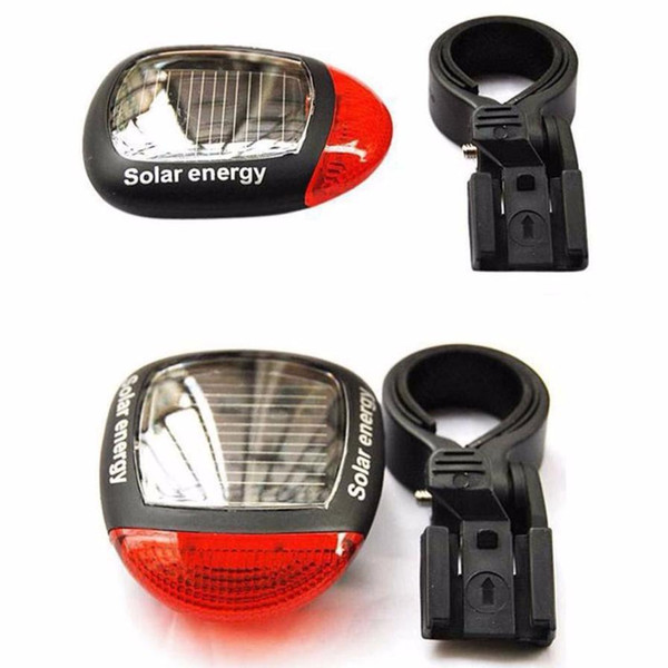 Lampada per bicicletta Nuovo 2LED Solare di sicurezza per la ricarica di avvertimento di sicurezza per biciclette per parti di biciclette montane