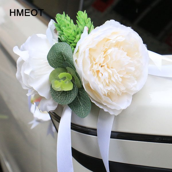 2019 Custom Made New Creative Wedding Car Decoration Flower Door Handles Rearview Mirror Decorate Artificial Flower Accessories From Hibooth 33 48