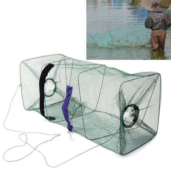 Promotion Cage Nylon Cast Crawdad Fishing Bait Minnow Fishing High Shrimp Net Net Fish 1pcs Dip Crab Foldable Cage Trap Quality