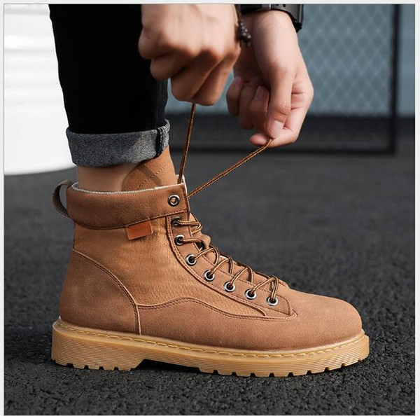 Spring Sports Top Trendy Knight's Men's Boots with Leather Laces and Outdoor Mountaineering Shoes and wof64