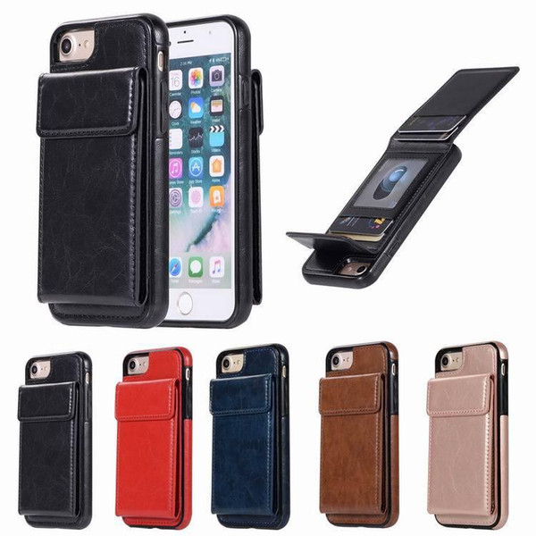 Cheap price Cool Top quality leather Wallet Case Card slot PU+TPU Phone Cover men's cool Cases For iPhone x 5 6 7 8 PLUS FOR SAMSUNG
