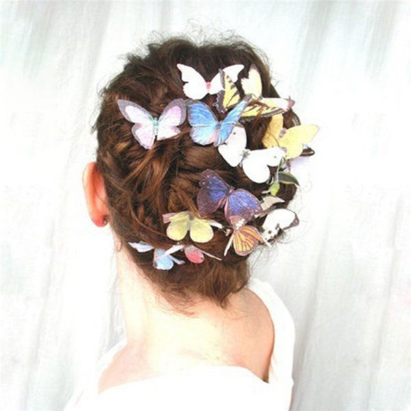 10PCS Lovely Butterfly Hair Clips for Women Bridal Wedding Hair Accessories Photography Costume Ornaments Tiara