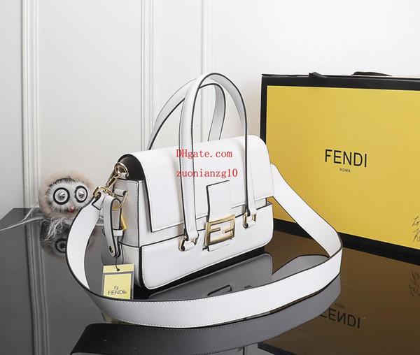 2019 brand fashion bags White dual use genuine leather bag women handbags purses designer clutch tote bag High quality handbagsDEF-8