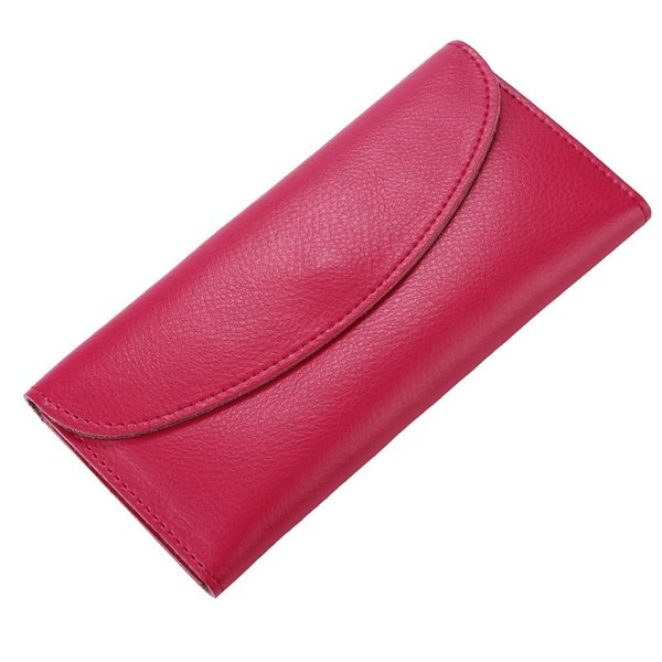 Genuine Leather Ladies Soft Long Purse Wallet Womens Clutch Hasp Wallet Portefeuille Femme With Card Holder Large Capacity