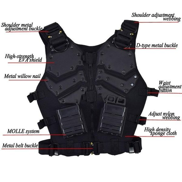 Outdoor Game Tactical Molle Hunting Combat GI Body Black And Tan Color Armor Vest Outdoor Hunting usmiltarytacticalvest bulletproofvest