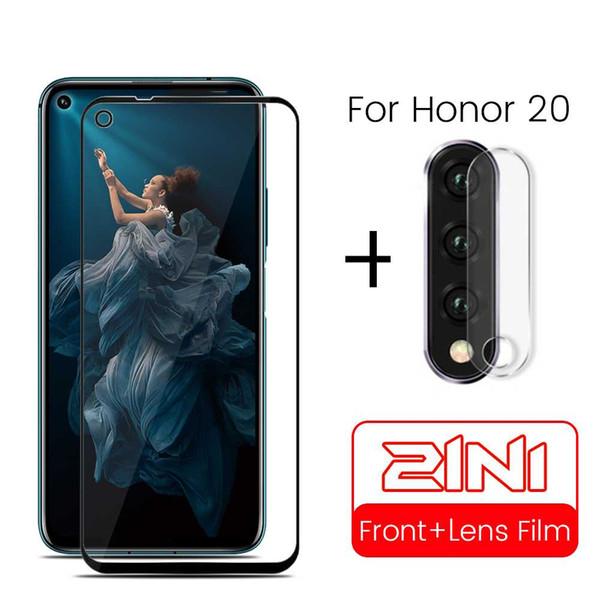 En honor 20 Pro cristal de la cámara de la película de la lente para Huawei Honor 20 Pro 20pro cámara Yal-L21-L41 YAL Honor20 protector de la pantalla de cristal