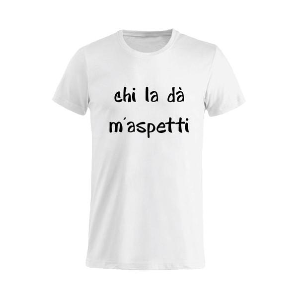 Футболка унисекс frasi simpatiche лозунг Чи Ла dà м'aspetti забавный 100% хлопок футболки Harajuku летом 2018 футболка