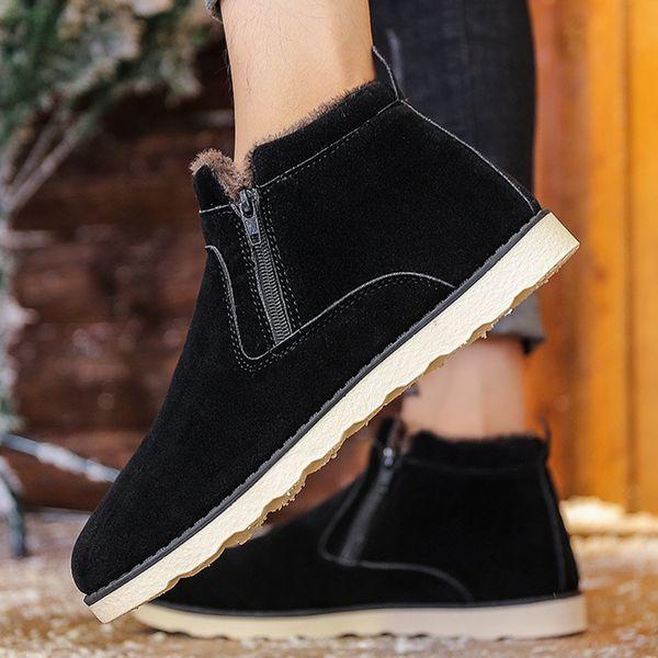 Men Shoes Winter Sneakers Snow Boots Plush Inside Antiskid Bottom Keep Warm Ski Male Ankle Snow Boots Boots Uk Winter Boots From Leafie, $34.79|