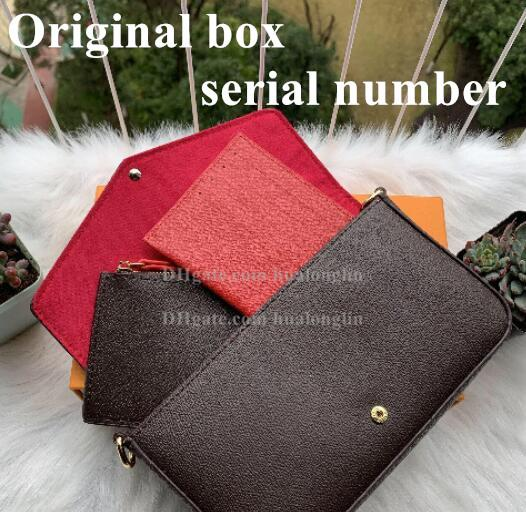 top popular Women Messenger Bag purse handbag original box 3 in 1 high quality with serial number date code 2021