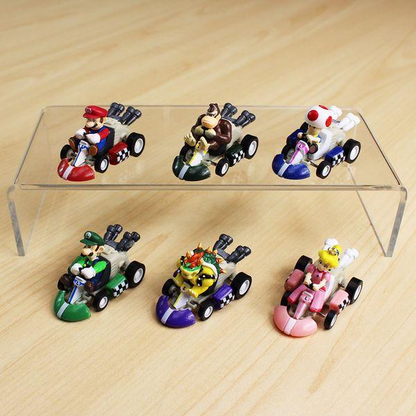 2019 Super Mario Mini Kart Pull Back Cars Luigi Toad Bowser Koopa Donkey  Kong Princess Peach Cars Figure Toys For Kids Y190604 From Gou08, $18 54 |