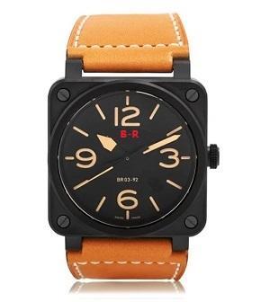 Simple Style Mens Watches Luxury Quartz Items Watches Fashion Quartz Wristwatches Leather strap Calendar Business Men Watch