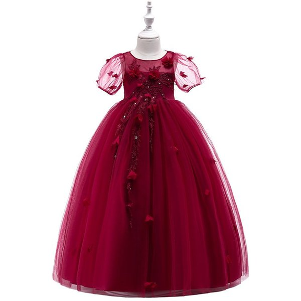 New Girls'Dresses for Birthday Banquet Dresses Flower Show Wedding Dresses, Princess Pengpeng Dresses and Long Skirts