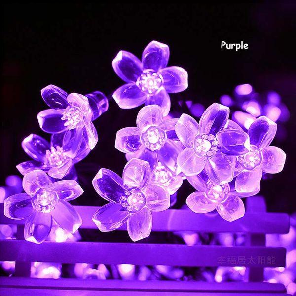 Solar Light String Flower Peach Blossom Cherry Blossom 50 LEDs Outdoor Christmas Landscape Light Garden Decoration