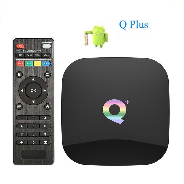 top popular Android 9.0 Smart TV Box Q plus 2GB 16GB Allwinner H6 1080P 4K Media Player 2.4G Wifi Set Top Box 2020