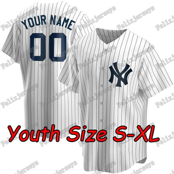 Youth Size S-XL White