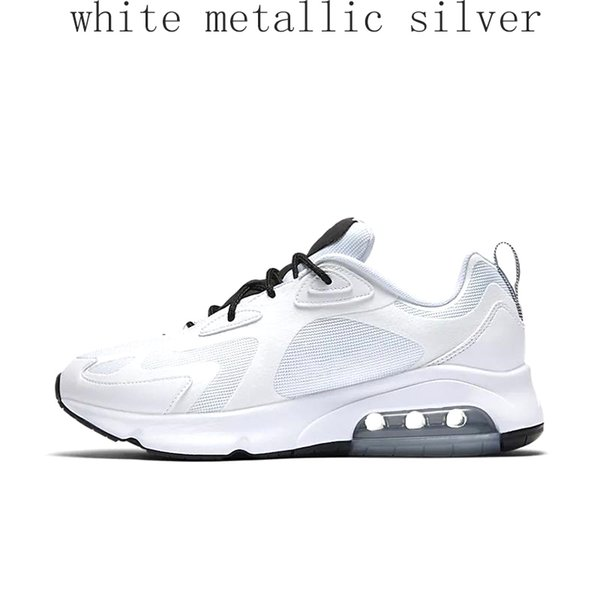 white metallic silver