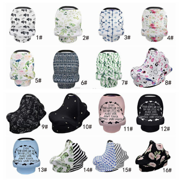 best selling 31 styles Cotton Baby Nursing Cover Breast Feeding Scarf multifunctional stroller cover Privacy Cover car seat canopy YYA19-1