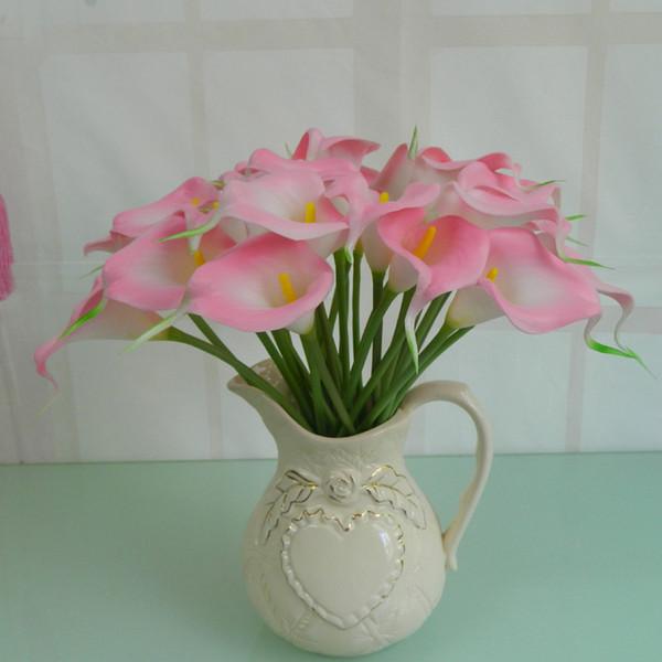 Des Çiçek Dekoratif Çiçek Yapay Mini Calla Lily Buket Düğün Dekorasyon Için En Yapay Yapay Çiçekler Calla Lily Buket