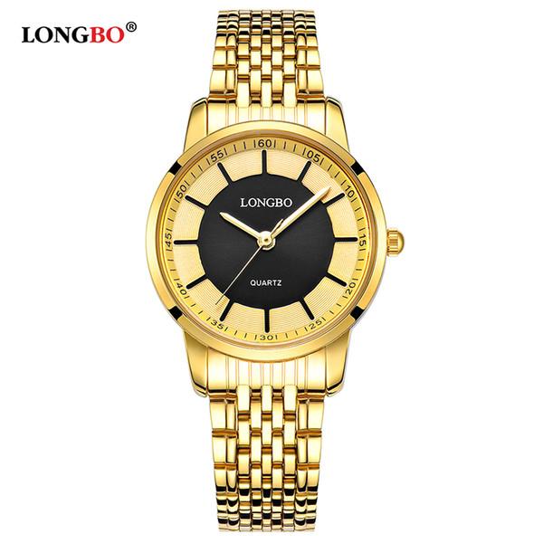 Reloj 2018 LONGBO Luxe Femmes Montre De Mode Casual Quartz Montre En Acier Inoxydable Horloge Étanche Relogio Feminino 80281W
