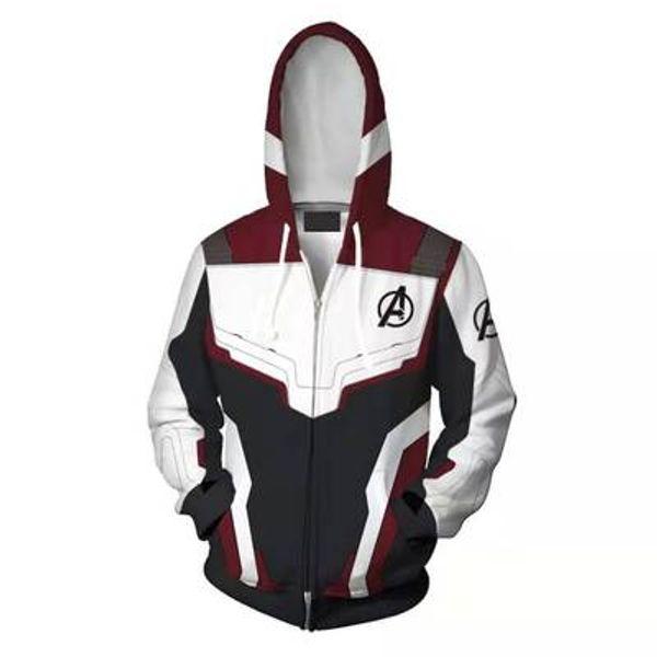 Avengers 4 Endgame Quantum Realm 3D Print Hoodies Super hero hoodies Men women Zipper Sweatshirts Coat Cosplay Costume