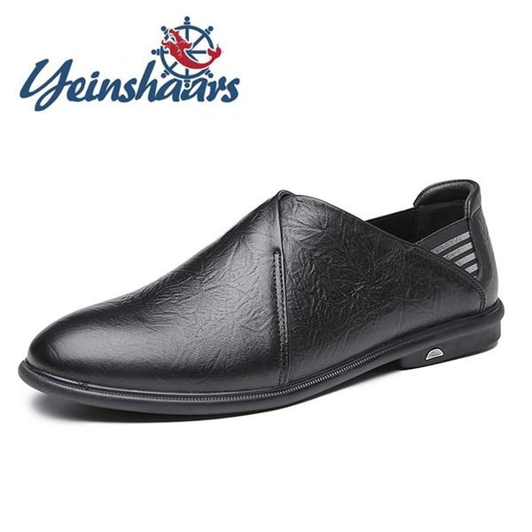 Hommes Chaussures en cuir véritable Chaussures hommes Designer de haute qualité Mocassins British style décontracté naturel Respirant Flats