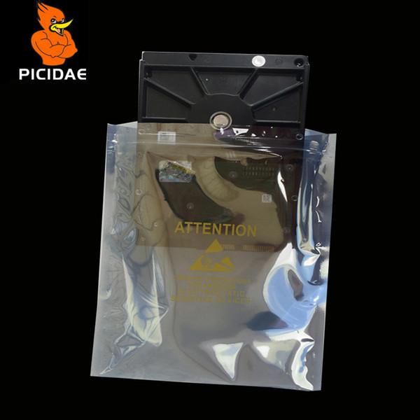 8x12 cm Anti-static shield zipper print ziplock plastic Packaging Bag electronic Digital Accessories chip Communication network card Graphic