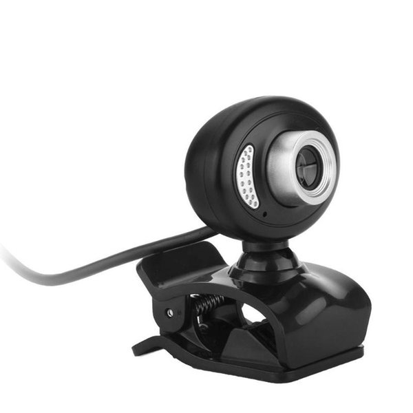USB Clip-on Webcam Rotatable HD 720P 12MP PC Camera Video Recorder with Mic