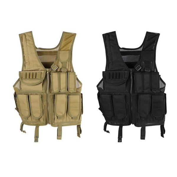Tactical Vest Molle Combat Assault Plate Carrier Tactical Vest 800D Adjustable Outdoor Clothing Hunting Black Came