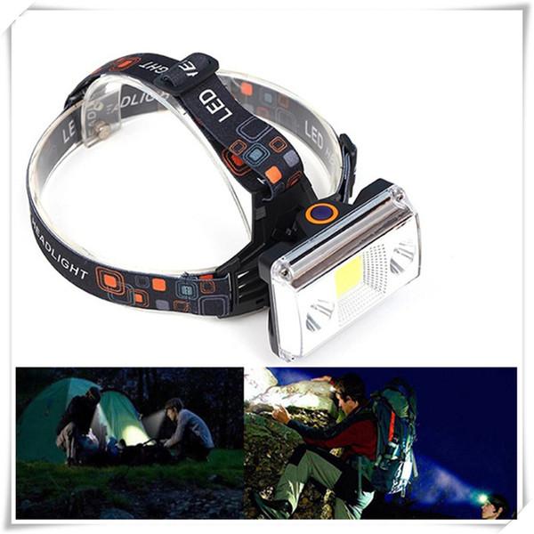 Headlamps 10000 Lumens COB LED Headlamp USB Charging Headlight Tactical 4-Mode Bicycle Flashlight Hunting Head Light