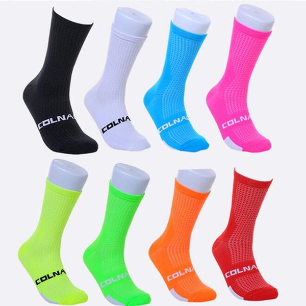 2018 colnago Cycling Socks Top Quality Professional Brand Sport Socks Breathable Bicycle Sock Outdoor Racing Big Size Men Women