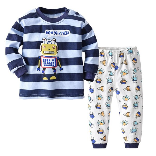 ad1d4188756206 2Pcs Set Kids Pajamas for Baby Boys Pajama Toddler Girls Underwear Children  Sleepwear Little Kid Nightwear