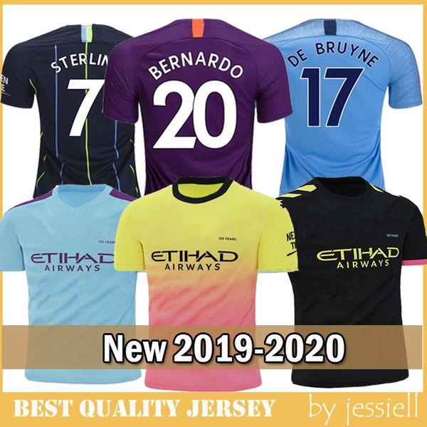 FODEN MAHREZ Manchester Fußball Trikots 2018 2019 2020 Stadt De Bruyne KUN AGUERO Fußball Trikot BERNARDO Camiseta MENDY SANE maillot de foot