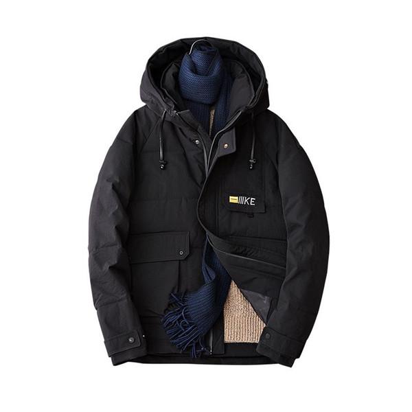 Winter Männer Baumwolljacken männliche Trend Safari Mäntel solide Thermal mit Kapuze Herren-Parkas schwarz weiß gelb 3xl 4xl