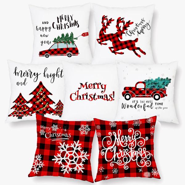 GC Christmas Car Truck Throw Pillow Case Cushion Cover Cafe Car Home Decor Welc